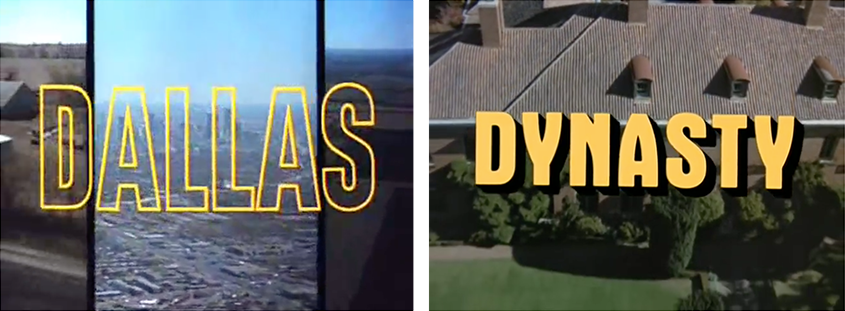 'Dallas' & 'Dynasty' title frames