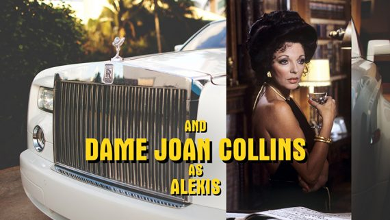 'Dynasty' Dame Joan Collins Mock-Up